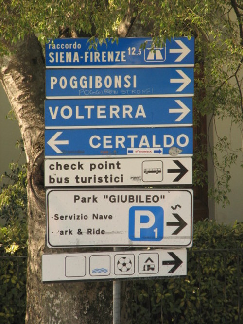 Wayfinding and Typographic Signs - tuscany-directions