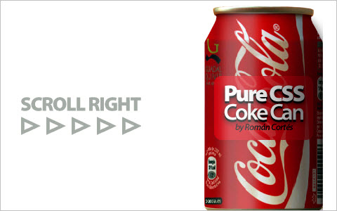 Rolling a coke can around with pure CSS