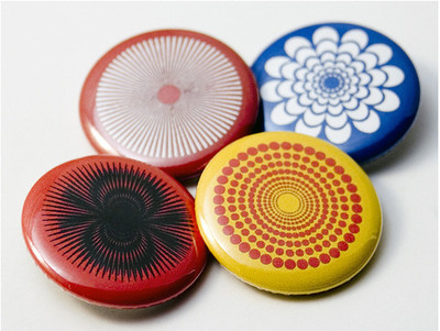 Pins, Badges and Buttons - Radial Pattern buttons