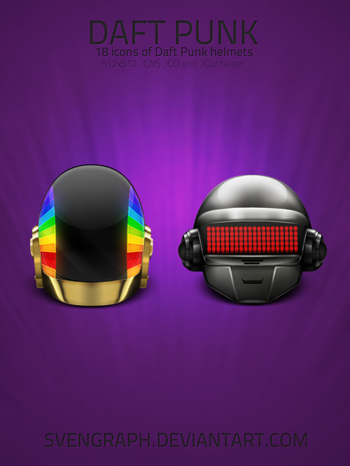 Free Icon Sets - daft punk helmets
