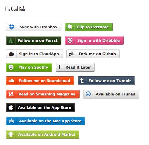 Free Zocial Button Set: Social CSS3 Buttons — Smashing Magazine
