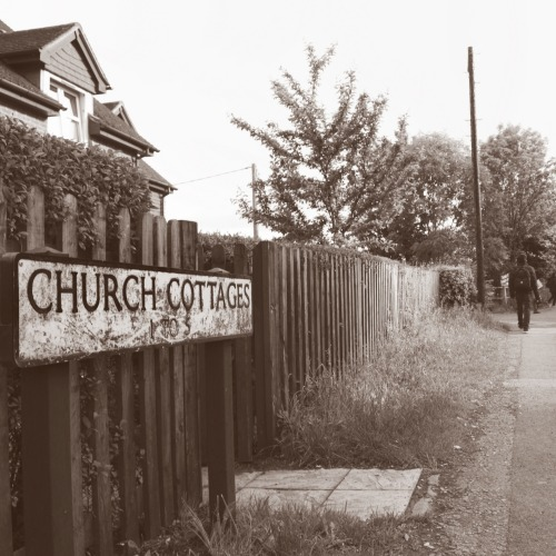 Wayfinding and Typographic Signs - church-cottages