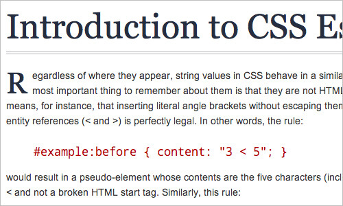 Introduction to CSS Escape Sequences | Mert TOL