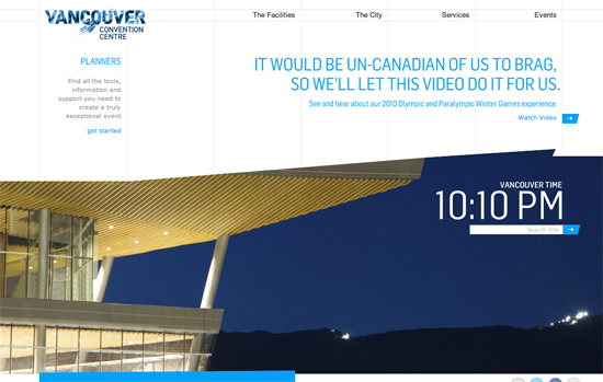 Screenshot, VancouverConventionCentre.com.