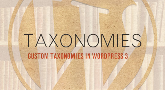 custom taxonomy wordpress