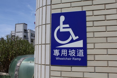 Wayfinding and Typographic Signs - wheelchair-access