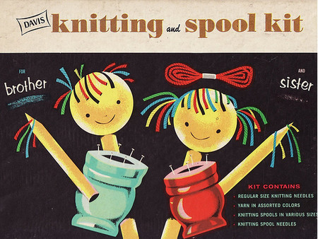 Vintage and Retro - knitting and spool kit
