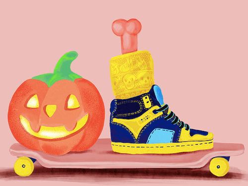 'Halloween Skater' by Loreta Isac