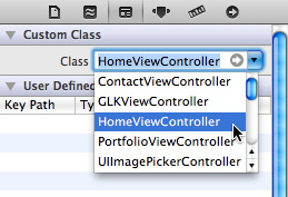 Connecting HomeViewController Class