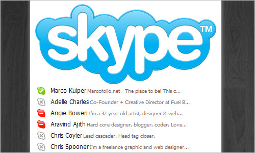 The Mac-style Skype Application Menu with CSS3 and jQuery
