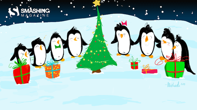 Christmas Wallpaper — A South Pole Christmas