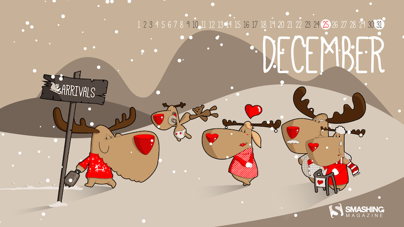 Cheerful Wallpapers To Deck Your December Desktop (2017 Edition)