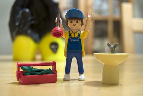 A Lego plumber