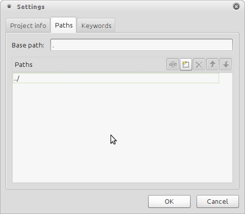 Paths info tab of Poedit