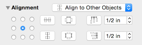 Omnigraffle's alignment tool