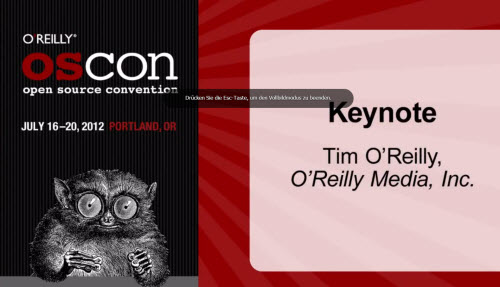 Tim O'Reilly - Keynote Of OSCON 2012