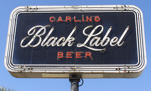 Vintage Signage - Carling Black Label Beer