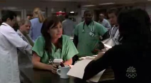 Screenshot from 2005 episode of ER