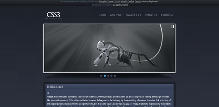 CSS3 Designs For Free Download - css3-the-future-is-here