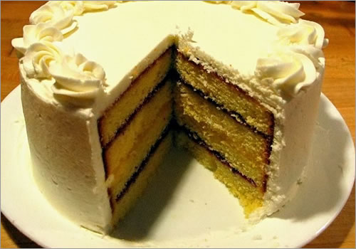 A many layered cake.