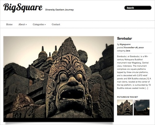 Big Square Free WP Theme