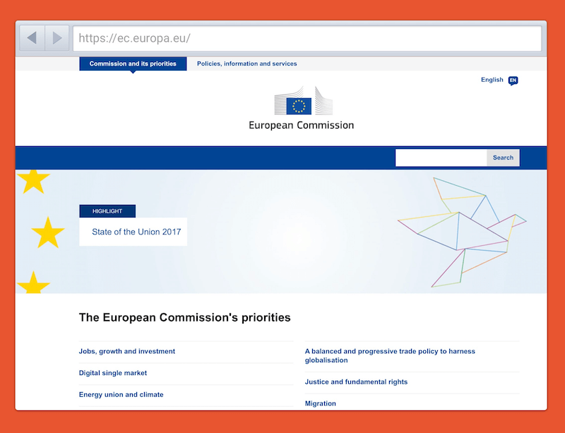 The European Commission were able to successfully reduce the amount of content they had online by 80%.