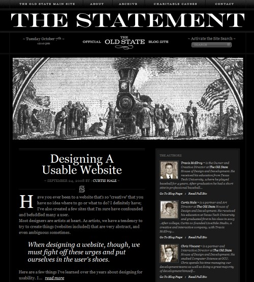 Retro and Vintage Designs - ~ The Statement ~ The Official Blog of The Old State