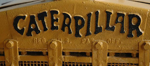 Original Caterpillar tractor logo.