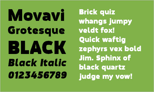 Download free Movavi fonts