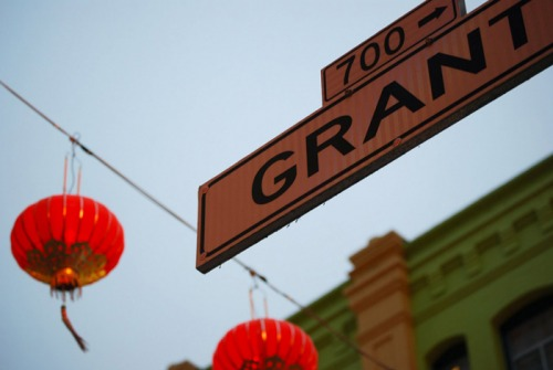 Wayfinding and Typographic Signs - chinatown-san-fran