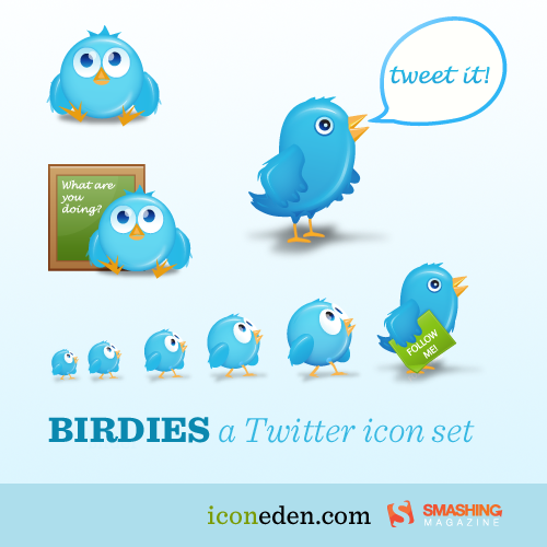 Birdies Twitter Icons