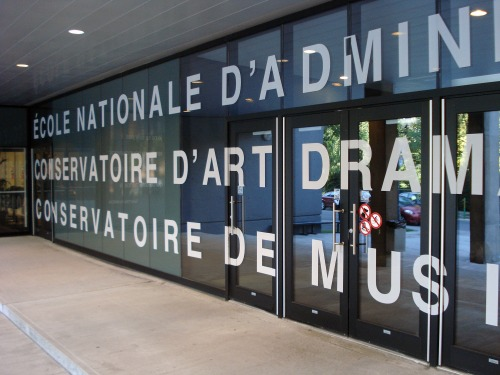 Wayfinding and Typographic Signs - ecole-nationale-1