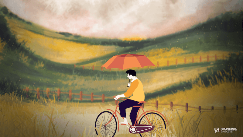 Riding In The Drizzle