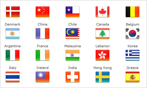 Beautiful Flags Of The World To Color Festooning Professional