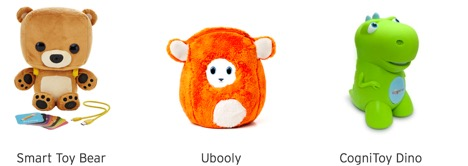 Smart Toy Bear, Ubooly and Cognitoy Dino