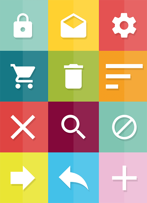 A handy icon set for material designers