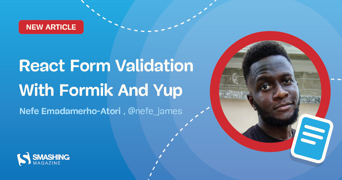 React Form Validation With Formik And Yup