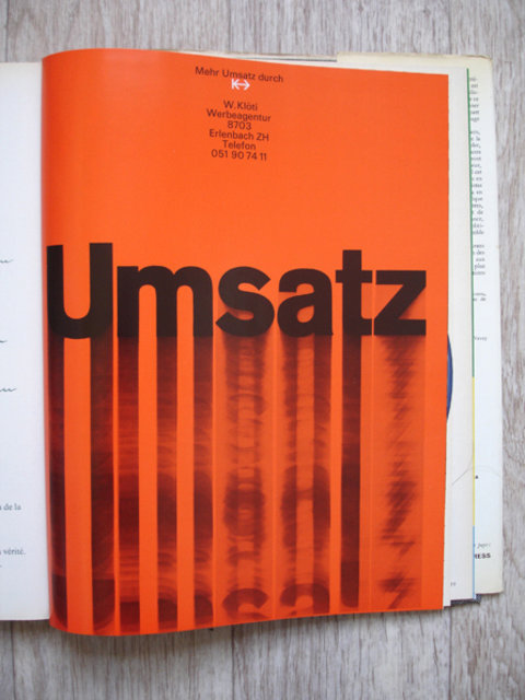 Swiss Graphic Design - Graphis Annual - 1965/66