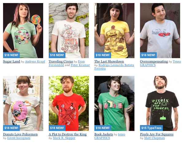 T-shirts for sale on Threadless
