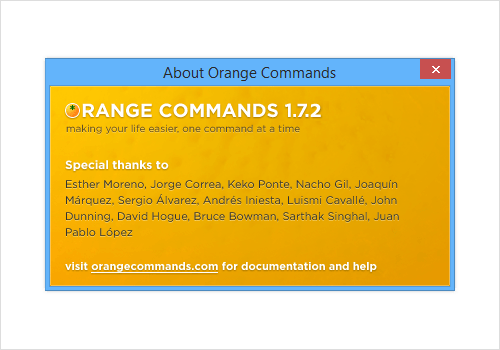 Orange Commands for Adobe Fireworks.