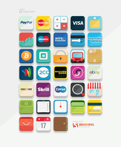 Preview of all e-commerce icons.