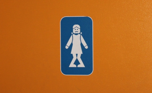 Wayfinding and Typographic Signs - lego-girls-room