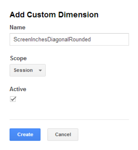 Adding a custom dimension to a web property with a scope of Session