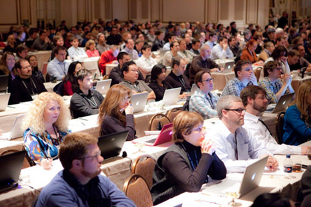 Inspire new employees by taking them to a quality conference. Image courtesy of flickr/Kris Krug