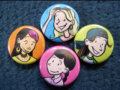 Pins, Badges and Buttons - Baby-Sitters Club Graphic Novel Buttons