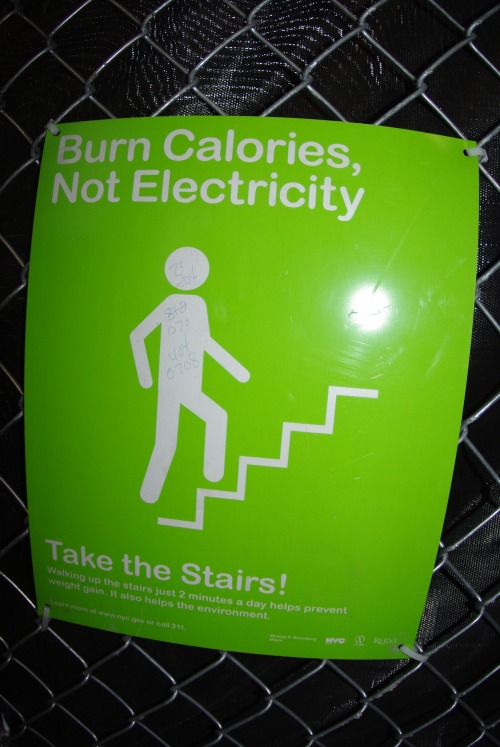 Wayfinding and Typographic Signs - burn-calories,-not-electricity