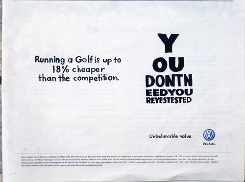 VW Cost Effective Ad
