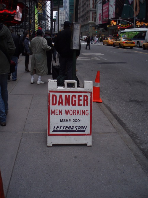 Wayfinding and Typographic Signs - danger-men-working