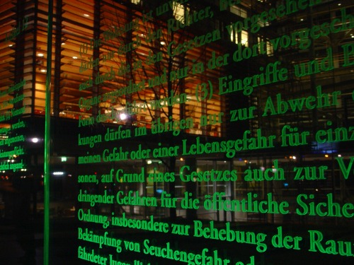 Wayfinding and Typographic Signs - human-rights-articles-in-berlin