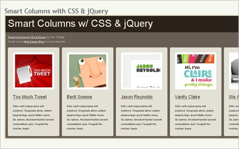 Interactive Webdesign with CSS and jQuery